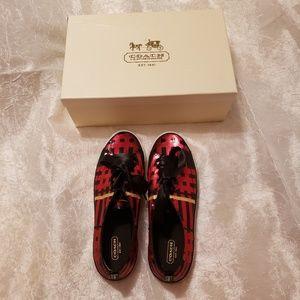 Coach- Sequin Tennis Shoes, Size 8.5